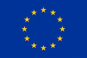 European union Flag showing stars.