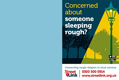 If you spot a rough sleeper in Ryedale call 0300 500 0914.
